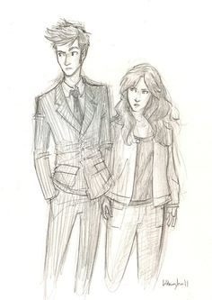 The Doctor and Donna by Burdge