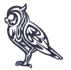 TATTOO - Side Standing Owl by Fluna.deviantart.com on @deviantART