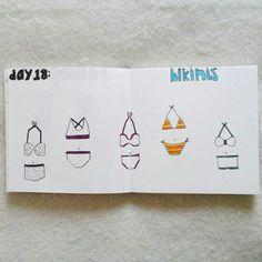 Day 18: bikinis #sketchbook #creativebug #lisacongdon