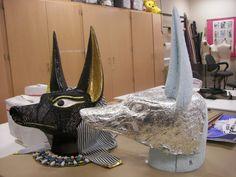 Varaform Anubis mask with matrix sculpture by Candy McClernan