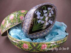 Shipping tins for Pysanky Ukrainian Easter Eggs