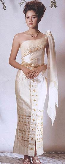 1000 images about thai traditional dress on pinterest for Thai style wedding dress