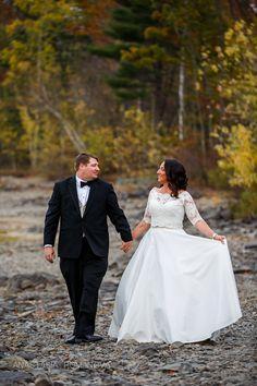 Silver Birches Wedding Photos. Fall foliage.  Poconos, PA Anastasia Romanova Photography