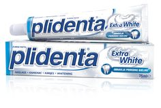 Plidenta Extra White - Renews the natural whiteness and shine of teeth. Fights tartar and maintains a natural pH balance. Medical Packaging, Food Packaging, Birthday Smiley, Flavored Toothpaste, Active Ingredient, Package Design, Whitening, Product Design, Desktop