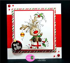 Store blog: Whimsy Stamp - Rudolph #whimsystamprudolph
