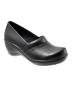 Take a look at this Black Leather Melody Clog by SoftWalk on #zulily today!