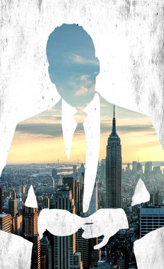 #HarveySpecter and the #NewYork skyline with white background from #suits