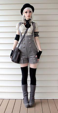kodona steam punk hat shorts spatz