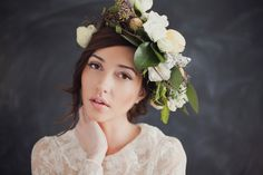 Floral head wreaths have been a huge hit for brides looking for an alternative to the classic veil. Check them out in this styled shoot!