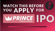 Prince Pipes Ipo क य Investement करन च ह ए With Images Fundamental Analysis Prince