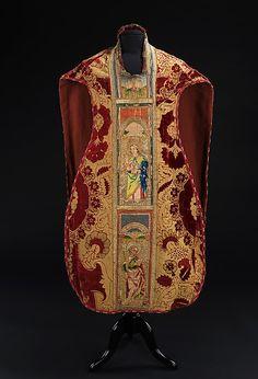 Silk/ Linen Chasuble - Italian - Late 16th Century
