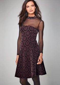 Šaty s polotransparentným výstrihom #Modinosk Textiles Y Moda, Strapless Dress, Calvin Klein, Formal Dresses, Womens Fashion, Nouvel An, Patterned Dress, Cocktail Dresses, Vintage Inspired