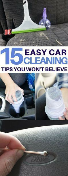 15 Car Cleaning Tips & Tricks to Transform Your Dirty Car Genius car cleaning hacks I must try on my dirty car! How to clean headlights, tires, get rid of bumper stickers and more amazing car cleaning tips & tricks using things I already have!