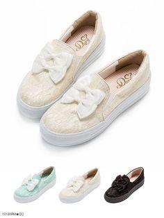 [グログラン×オーガンジーのダブルリボン 総レースガーリー厚底スリッポン|DM|PR]【H-1】【2015SS】|夢展望 Vans Classic Slip On, Sneakers, Shoes, Fashion, Moda, Sneaker, Zapatos, Shoes Outlet, Fasion