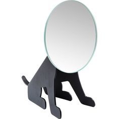 Table Mirror Dog Face Black - KARE Design