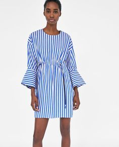 New clothes and accessories updated weekly at ZARA online. Stay in style with seasonal trends. Zara Outfit, Zara Shop, Online Zara, Dresses Online, Women's Dresses, New Outfits, Striped Dress, New Dress, Shirt Dress