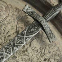 The Sword of Alden that Prince Valerian finds. Swords And Daggers, Knives And Swords, Medieval Weapons, Chivalry, Fantasy Weapons, Cold Steel, Medieval Fantasy, Katana, Blacksmithing