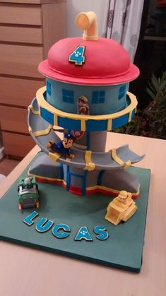 Paw Patrol control tower cake
