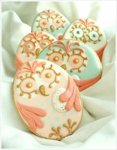 Cookies de Pâques en forme de chouette