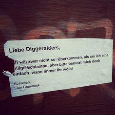Liebe Diggeralders, ....