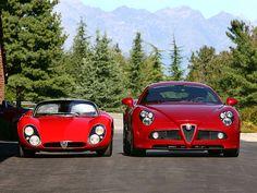 Alfa Romeo Tipo 33 Stradale & 8C Competizione. How big cars have become...