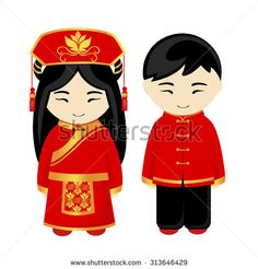 Chinese man and Chinese woman. Chinese national costume, national dress and a hat. Chinese Theme, Chinese Man, Cartoon People, Cartoon Kids, People Illustration, Illustrations, Diversity Activities, Costumes Around The World, Chinese Cartoon