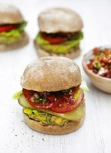 The ultimate veggie burger by Jamie Oliver