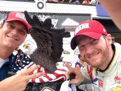 Dale Jr and Steve Letarte.... Pocono June 8, 2014