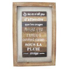 Tableau en bois avec citation, 16 x 2 x 24''