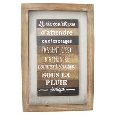 tableau en bois avec citation 31 5 x 2 x 24 39 39. Black Bedroom Furniture Sets. Home Design Ideas