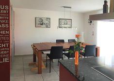 Essbereich vorher Modern, Dining Table, Furniture, Home Decor, Environment, Oak Tree, Living Room, Homes, Essen