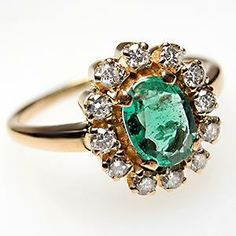 Emerald and diamond ring. Hint hint to my future hubby.