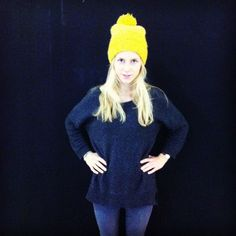 OUTFIT OF THE DAY: YELLOW WOOLY HAT | bevogued blog