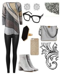 """""""Holiday Glitter"""" by heartsabustin ❤ liked on Polyvore featuring rag & bone/JEAN, Marc Jacobs, Effy Jewelry, AQS by Aquaswiss, Jaeger, Gianvito Rossi, Valentino and Michael Kors"""