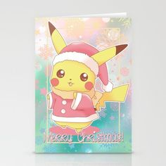 Pikachu Merry Christmas Cards ~ $12 ~ Geeky Holiday Gifts!