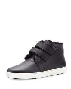 S0G74 Rag & Bone Kent Shearling-Lined Sneaker, Black