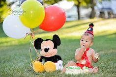 Baby Boy/ Toddler Mickey Mouse Cake Smash Outfit by CutiePiesTies, $40.00