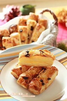 廚房一隻柴-蜂蜜杏仁葡萄千層酥