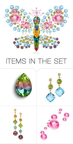 """Gem Queen Butterfly"" by pwhiteaurora ❤ liked on Polyvore featuring art"