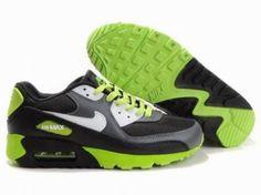Nike Air Max 90 blanco / negro / verde http://www.esnikerun.com/