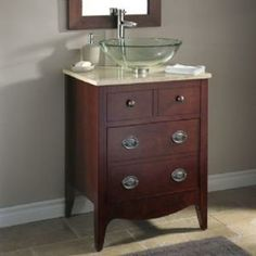 American Standard Jefferson 24 in. W x 20 in. D x 31.25 in. H Vanity Cabinet Only in Autumn Cherry-9630.024.316 at The Home Depot
