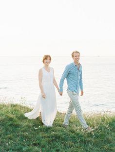 Windswept Coastal Engagement Session by D'Arcy Benincosa   Wedding Sparrow