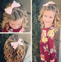 Valentine& day kids hairstyles are so adorable especially if you had some cute valentine& hair bows when styling their hair. Valentine's Day Hairstyles, Baby Girl Hairstyles, Hairstyles For School, Toddler Hairstyles, French Braid Headband, Girls Updo, Girl Hair Dos, Hair Girls, Instagram Hairstyles