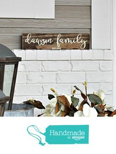 Hand Painted Personalized Family Sign from Three Blue Owls https://www.amazon.com/dp/B019HBEFT4/ref=hnd_sw_r_pi_dp_XmMJybT5MKB3W #handmadeatamazon