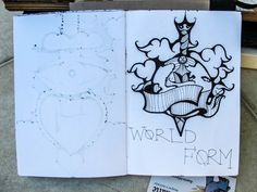 White Mini Sketchbook - Uno de Oliveira
