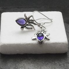 Small Amethyst Earrings, Sterling Silver and Purple Genuine Amethyst Dangle Earrings, Amethyst Jewelry, Amethyst Birthstone Gift Amethyst Birthstone, Amethyst Jewelry, Amethyst Earrings, Amethyst Gemstone, Purple Amethyst, Gemstone Rings, Dainty Earrings, Sterling Silver Earrings, Dangle Earrings