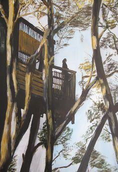 ABK Mortsel opdracht 9 boomhut werk van Marc
