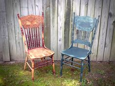 old wooden chairs would be used to seat guests