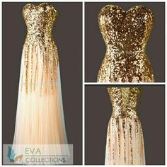 1e0c594a2b ProdCode – - Golden sequins Evening Dress from EvaCollections, Bengaluru,  Karnataka, India