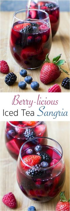 Sip the flavors of summer with Berry-licious Iced Tea Red Sangria! This easy, ma… Sip the flavors of summer with Berry-licious Iced Tea Red Sangria! This easy, make-ahead drink blends Pure Leaf Tea, sweet. Sangria Rouge, Berry Sangria, Cocktail Drinks, Alcoholic Drinks, Beverages, Summer Cocktails, Wine Drinks, Fall Drinks, Party Drinks